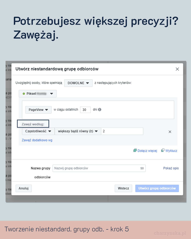 facebook niestandardowe grupy odbiorców