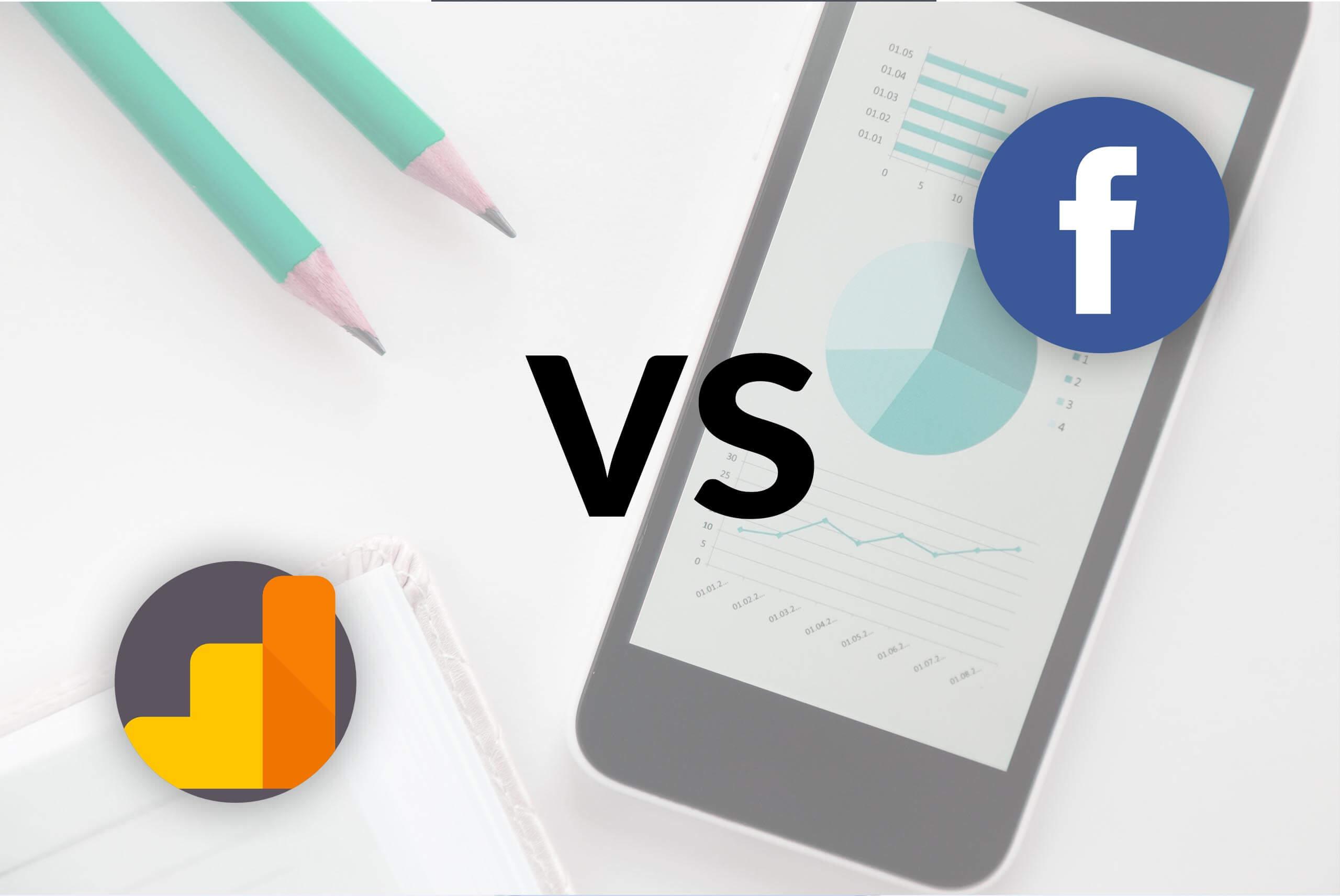 konwersje analytics vs facebook