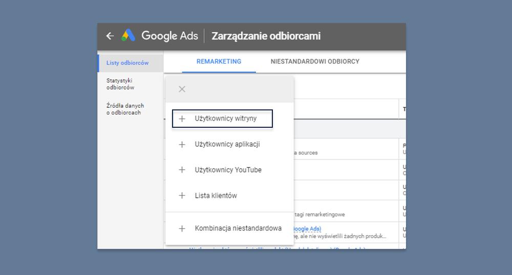 targetowanie google po url
