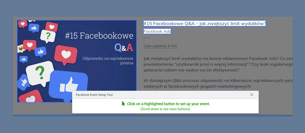 facebook konwersje standardowe