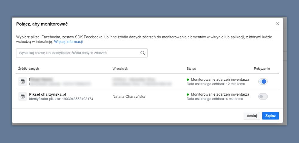 piksel katalog facebook