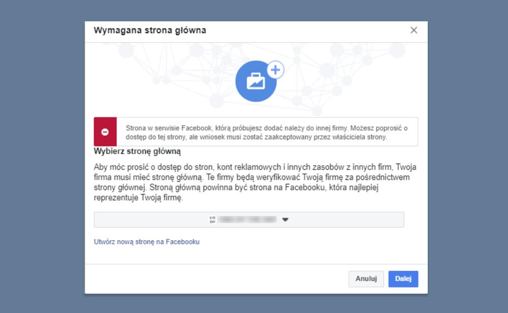 strona fb należy do firmy